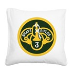 3rd Armored Cavalry Square Canvas Pillow