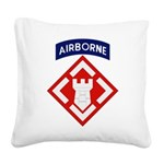 20th Engineer Square Canvas Pillow