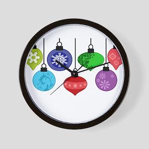 Christmas Ornaments Wall Clock