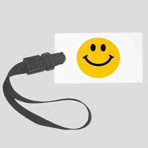 Yellow Smiley Face Large Luggage Tag
