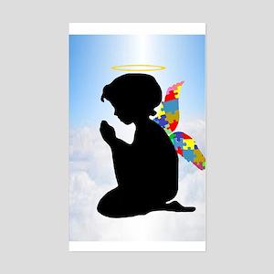 Autism Angel Sticker (Rectangle)