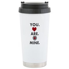 You.Are.Mine. Hearts n Flowers Stainless Steel Tra