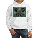 Aqua Butterfly Hooded Sweatshirt