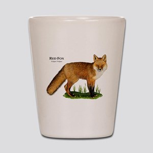 Red Fox Shot Glass