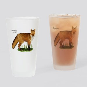 Red Fox Drinking Glass
