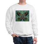 Aqua Butterfly Ash Grey Sweatshirt