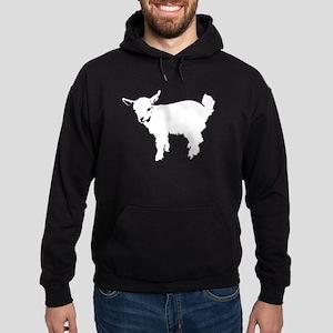 White Baby Goat Hoodie (dark)