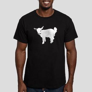 White Baby Goat Men's Fitted T-Shirt (dark)