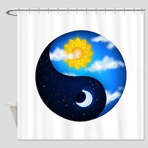 Day Night Yin Yang Shower Curtain