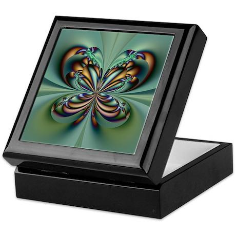 Aqua Butterfly Keepsake Box