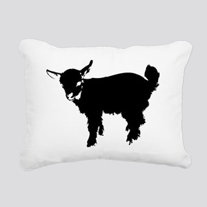 Black Baby Goat Rectangular Canvas Pillow