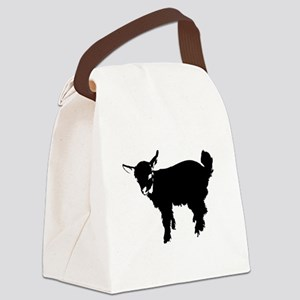 Black Baby Goat Canvas Lunch Bag