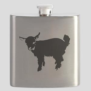 Black Baby Goat Flask