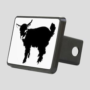 Black Baby Goat Rectangular Hitch Cover