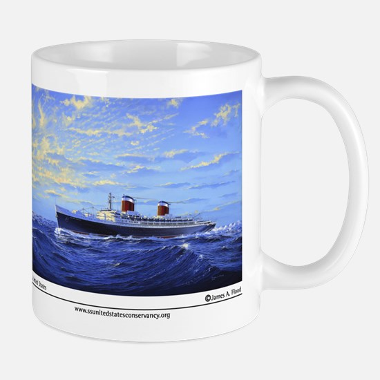 "New! ""SS United States"" by Ja Large Mugs"