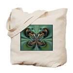 Aqua Butterfly Tote Bag