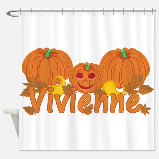 Halloween Pumpkin Vivienne Shower Curtain