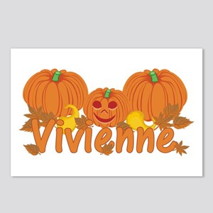 Halloween Pumpkin Vivienne Postcards (Package of 8