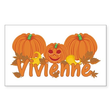 Halloween Pumpkin Vivienne Sticker (Rectangle)