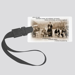 Vintage Crufts Large Luggage Tag