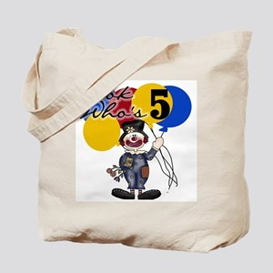 Circus 5th Birthday Tote Bag