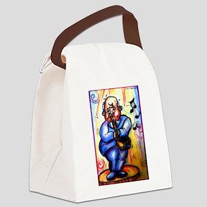 Music! Bright, fun art! Canvas Lunch Bag