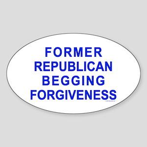 Former Republican Sticker (Oval)