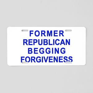 Former Republican Aluminum License Plate