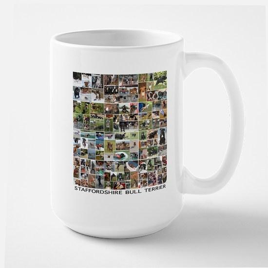 Lots of Staffordshire Bull Terriers Large Mug