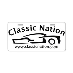 Classic Nation Aluminum License Plate