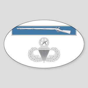 EIB Airborne Master Sticker (Oval)