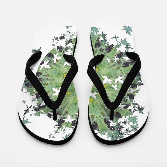 Miracle Leaf Breakout Flip Flops