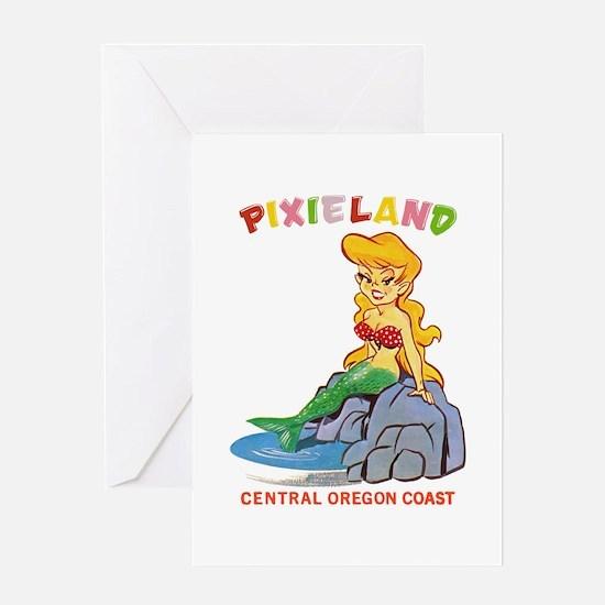 Pixieland Mermaid Pixie Greeting Card