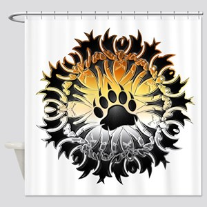 Tribal Bear Pride Paw Shower Curtain