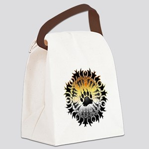 Tribal Bear Pride Paw Canvas Lunch Bag