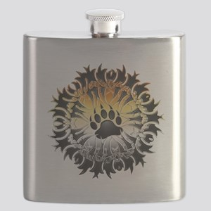Tribal Bear Pride Paw Flask