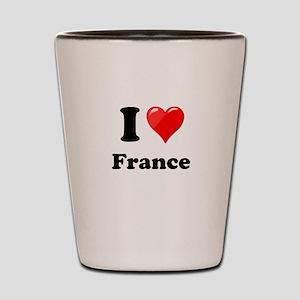 I Heart Love France Shot Glass