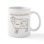 Dark Brown Print / Know Your Cuts of Lamb Mug
