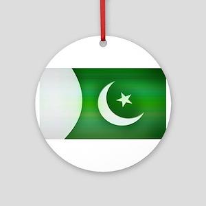 Patriotic Pakistani Design Ornament (Round)