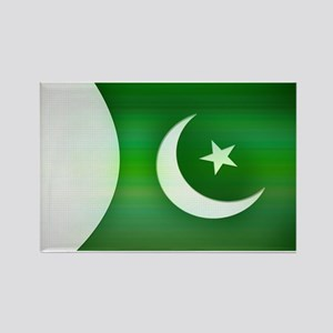 Patriotic Pakistani Design Rectangle Magnet