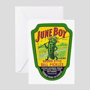 June Boy Pickles Greeting Card