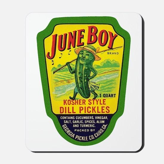 June Boy Pickles Mousepad