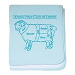 Blue print / Know Your Cuts of Lamb baby blanket