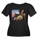 design Women's Plus Size Scoop Neck Dark T-Shirt