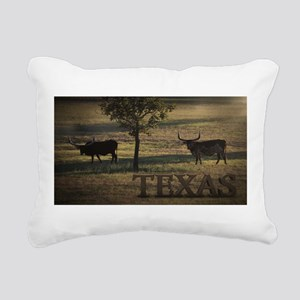Texas Long Horn Rectangular Canvas Pillow