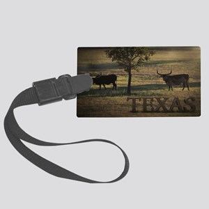 Texas Long Horn Large Luggage Tag