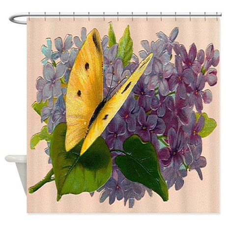 Vintage Butterfly Print #7 Shower Curtain