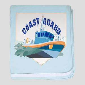 Coastie Wife Cutter baby blanket