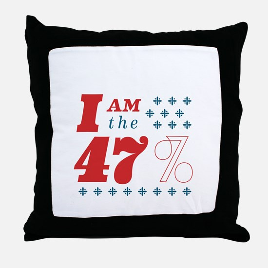 I'm the 47% Throw Pillow