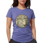 Shiba Inu Dog Art Womens Tri-blend T-Shirt